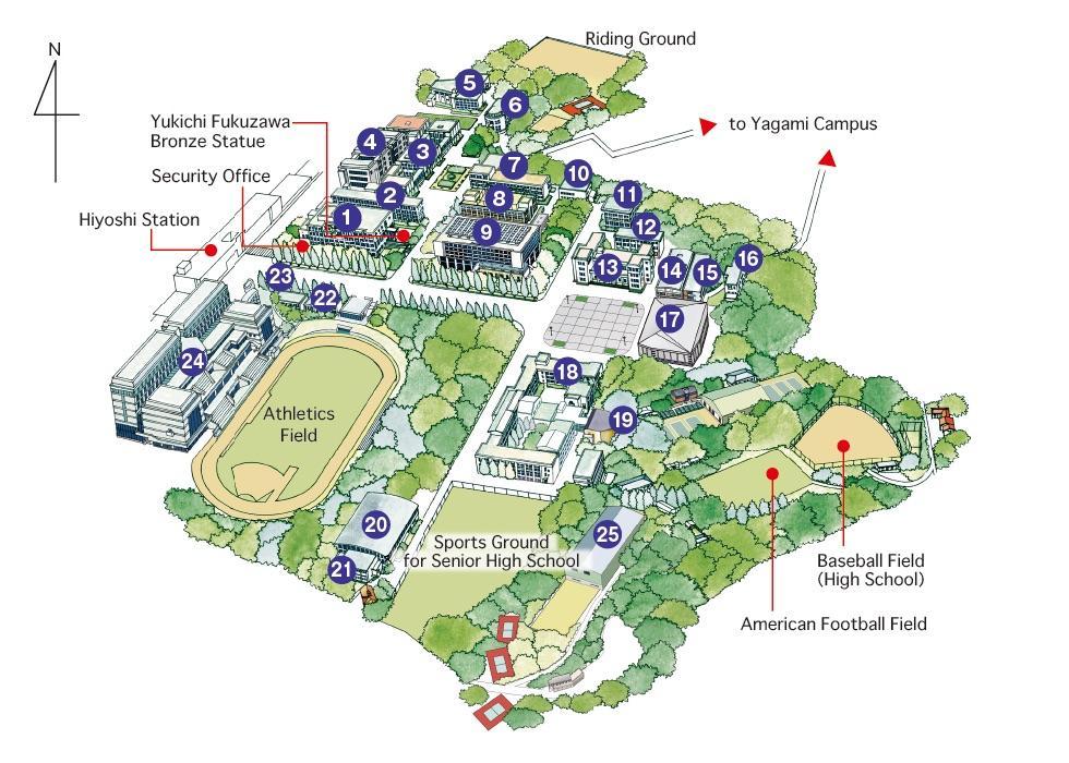 Ku Med Campus Map.Hiyoshi Campus Keio University