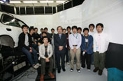 Prof.Kawashima, Assoc.Prof.Daimon and students