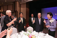 Prime Minister Fukuda at the banquet to celebrate Keio's 150th Anniversary (on 27 June at the Imperial Hotel)