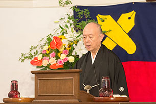 Mr. Sakai Gives an Address