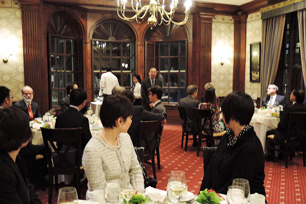 Dinner with researchers from the two universities