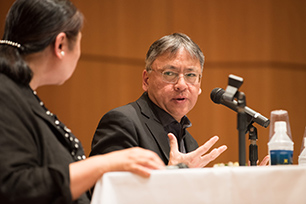 Kazuo Ishiguro during the interview